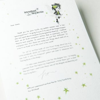 Personalised Tooth Fairy Letters, with parenting tips woven through from the International Elf Service. A perfect addition to that well loved childhood tradition where the Tooth Fairies leave a personalised Fairy letter for your child to discover.