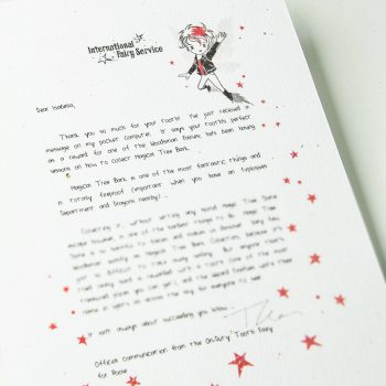Tooth Fairy letter trying your best - from the International Fairy Service