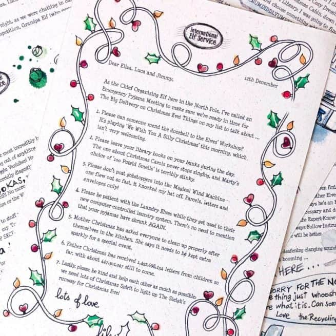 News from the Elves' Workshop in these Gold Award Winning Christmas Elf Letters from the North Pole from International Elf Service.