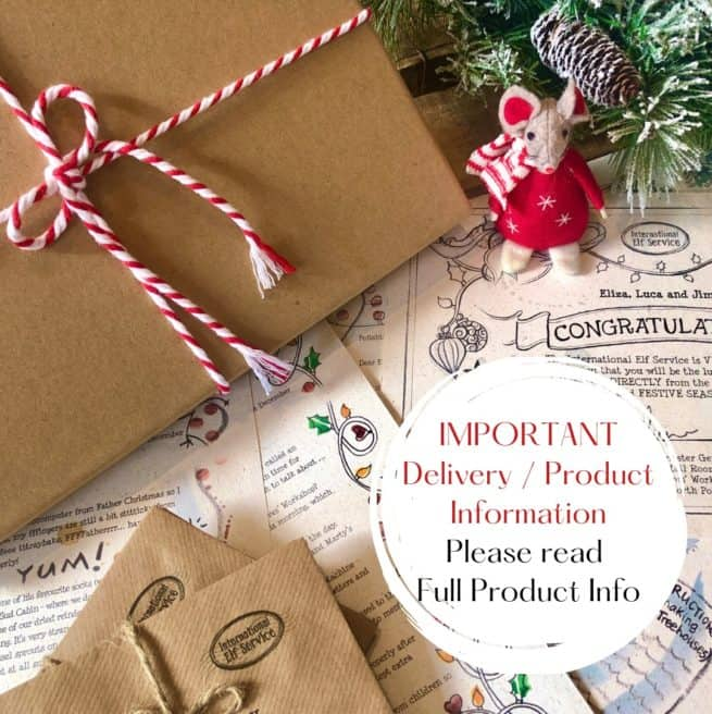 Magical Daily Christmas Elf Letters from the North Pole from International Elf Service