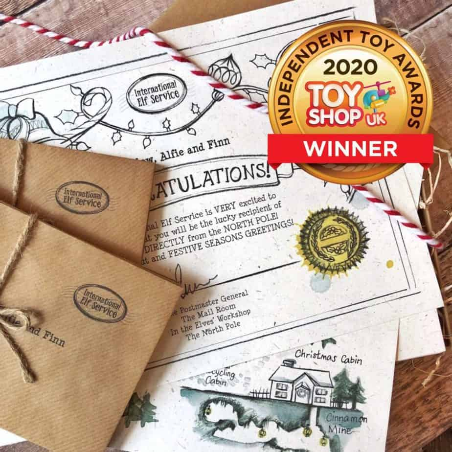 Elfie's Christmas Letters Advent Letter set is the original Christmas Elf Letter Advent Calendar - now in it's 7th year (2020) International Elf Service has won the Gold Award for Best Advent Calendar in the Independent Toy Awards 2020