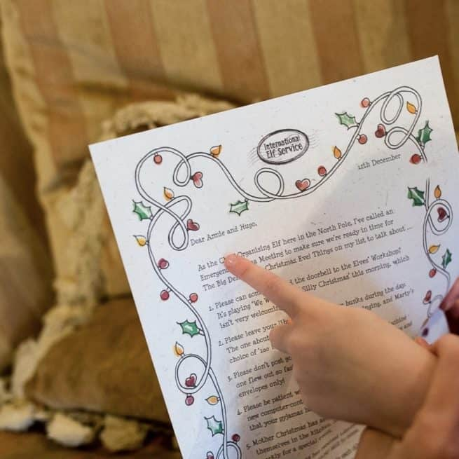 Handcrafted, eco-friendly and personalised letters from the north pole written by Christmas Elves. For children to discover around their home each day through December.