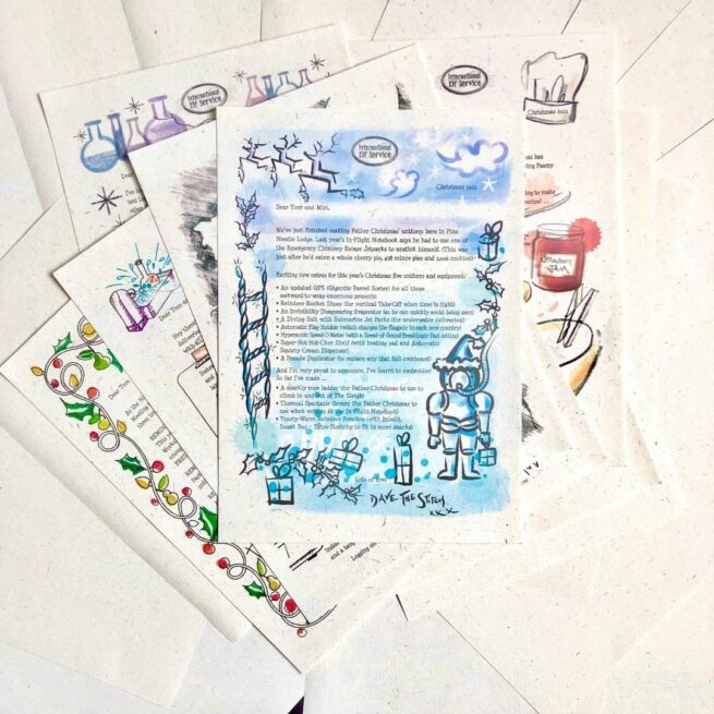 7 personalised letters from the North Pole, written by Christmas Elves at International Elf Service, for children to find mysteriously around their home on the countdown to Christmas