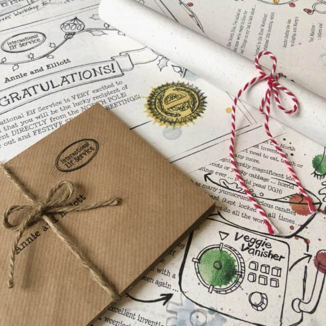 You can opt for scrolls or Personalised envelopes with our Christmas Elf Letter Bundles - bringing the latest news updates from the North Pole on the countdown to Christmas. 100% recycled paper. An International Elf Service product.