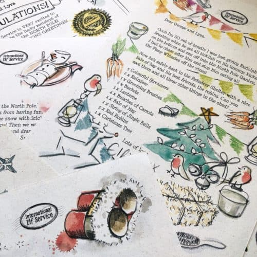 Christmas Elf Letters from the North Pole for a very magical December. Festive activities to do together with children aged 3-5 yrs on the Countdown to Christmas by International Elf Service