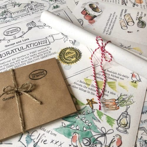Personalised Christmas Elf Letter Activity Letter Bundle. 100% recycled paper. An International Elf Service product.