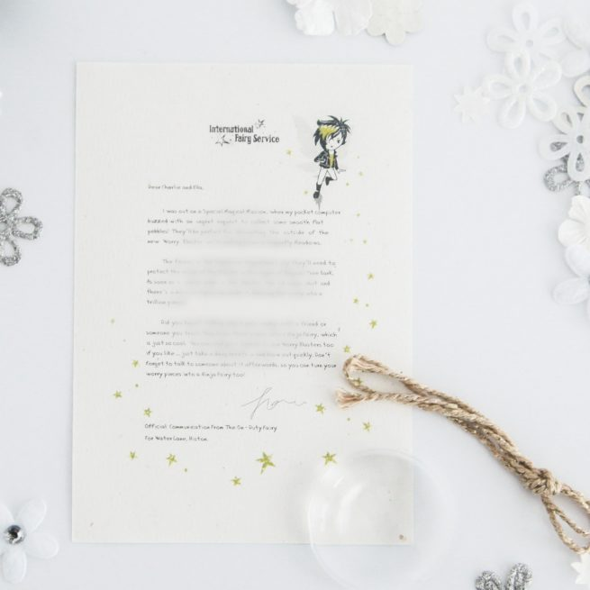 The Worry Blaster Fairy Letter from International Elf Service. Let the fairies teach your children how to get rid of their worries.