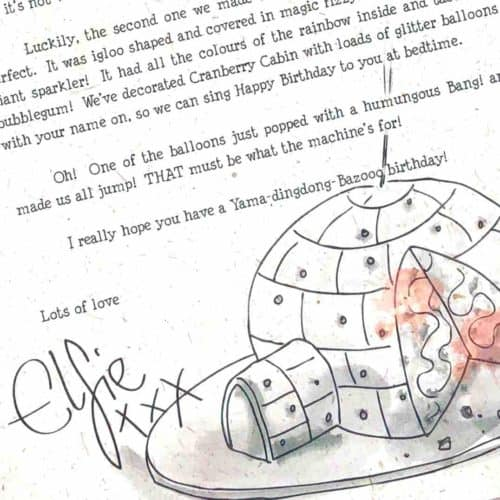The International Elf Service delivers personalised, handcrafted birthday letters from the North Pole ... written by a Christmas Elf. Elfie's Birthday Letter: The Birthday Cake