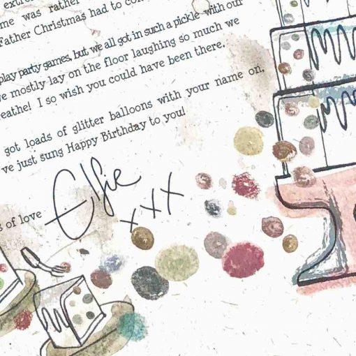 Elfie's Birthday Letter: Fancy Dress
