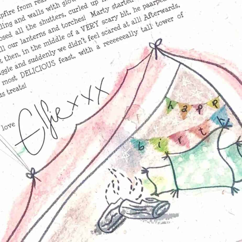 The International Elf Service delivers personalised, handcrafted birthday letters from the North Pole ... written by a Christmas Elf. Elfie's Birthday Letter: Indoor Camping