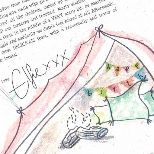 Elfie's Birthday Letter: Indoor Camping