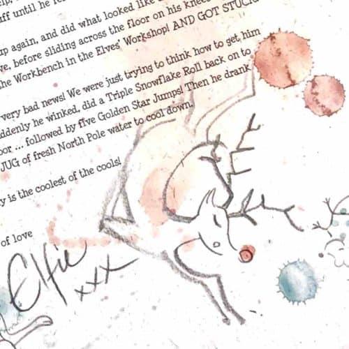 Single Elf Letter - Father Christmas Breakdancing by Elfie