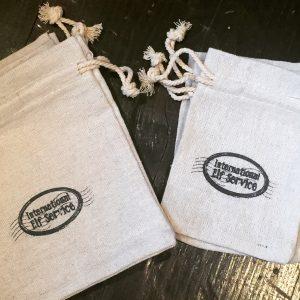 International Elf Service™ Natural Linen Gift Bags