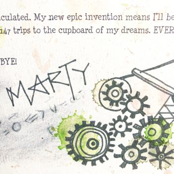 Single Elf Letter - Marty's Catapult Launcher
