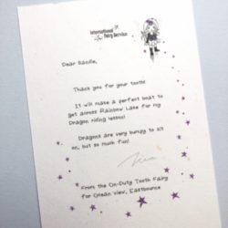 Short & Simple Tooth Fairy Letters No. 03