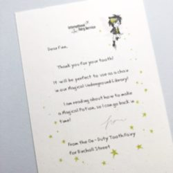 Short & Simple Tooth Fairy Letters No. 01