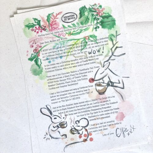A personalised Christmas Elf Letter for the whole family to hear what happened in the North Pole on Christmas Day this year! Beautiful eco-friendly gift from the International Elf service