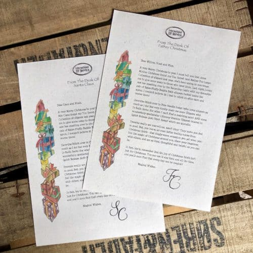 Personalised Letter from Father Christmas or a Letter from Santa Claus from International Elf Service