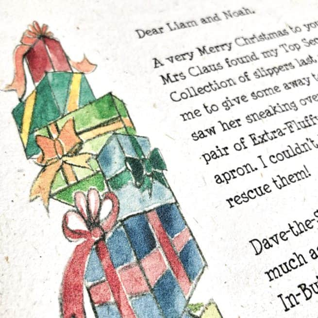 Choose between a personalised letter from Father Christmas and a personalised letter from Santa Claus from the International Elf Service. This letter changes each year and is also included in Elfie's Christmas Letters our ultimate story bundle.