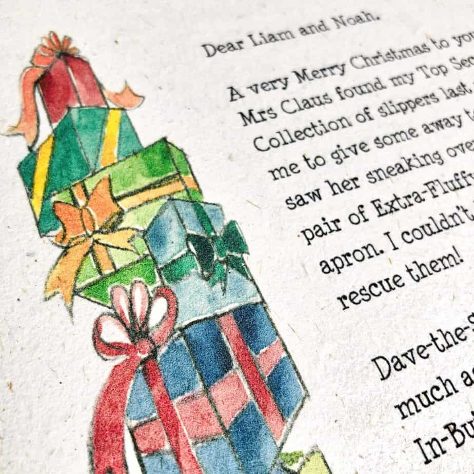 Letter from Father Christmas or Letter from Santa for Baby's First Christmas from the International Elf Service. New each year