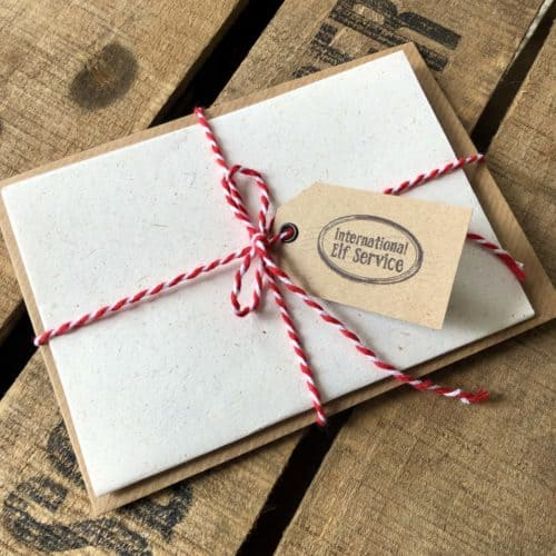 Our invitation to Lapland makes the perfect magical Lapland reveal letter inviting children to Lapland in the North Pole. All our single Christmas Elf letters from the North Pole come with a length of candy cane twine and an offical gift tag.