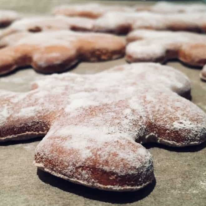 Another festive christmas baking idea from International Elf Service. A Christmas recipe for delicious Christmas Elf Gingerbread Cookies with a gluten free option - a perfect North Pole Breakfast idea.