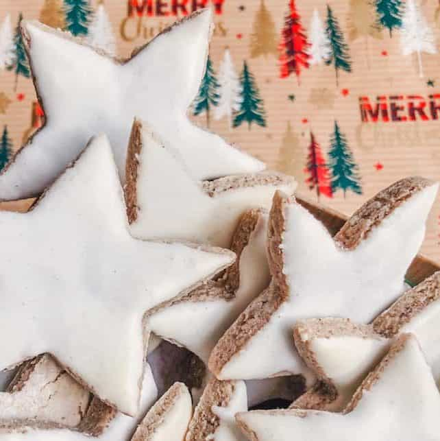 If you're after a Christmas Recipe or Christmas Baking idea - these authentic German Christmas Star Cookies, (Zimtsterne) are delicious! Tested by the elves at International Elf Service