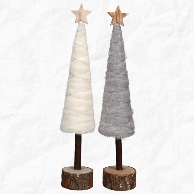 A pair of Woollen Christmas Tree Decorations from International Elf Service