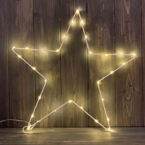 A beautiful and magical Extra Large Star LED Light Christmas Decoration from International Elf Service