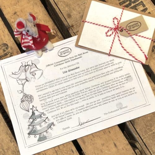 A personalised letter from International Elf Service explaining who Father Christmas Really is.