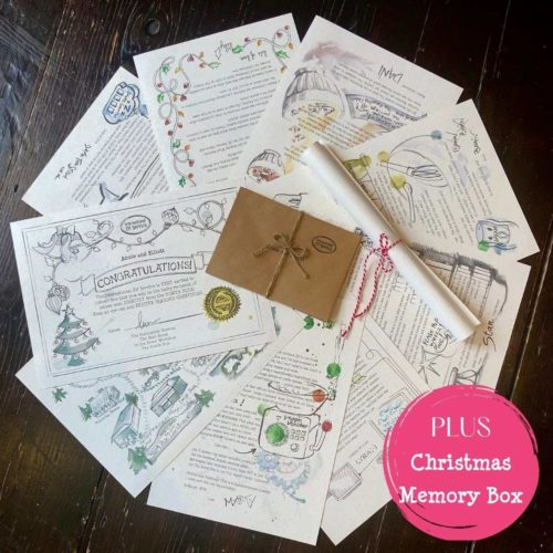7 newsy letters from the North Pole written by a Christmas Elf PLUS a Family Christmas Memory Box Tradition for a magical Advent tradition from International Elf Service