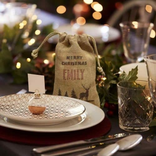 Personalised Mini Christmas Sacks from International Elf Service - the perfect Christmas Cracker alternative