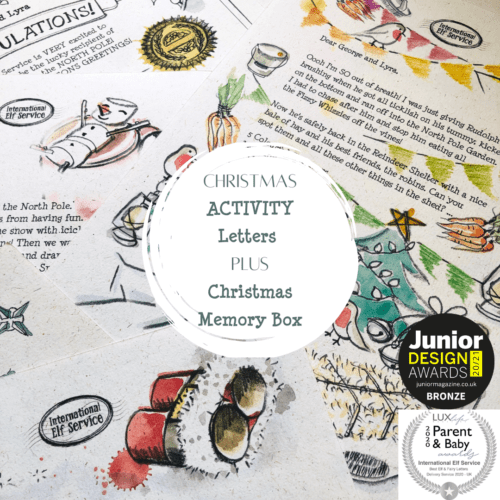 Multi Award-winning Magical Christmas Elf Advent Letters from the North Pole, filled with Christmas Activities and news, PLUS an International Elf Service Family Christmas Memory Box Tradition