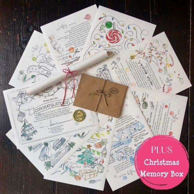 A bundle of 7 personalised Christmas Elf letters brimming with Christmas activities and crafts from International Elf Service. PLUS a Family Christmas Memory Box Tradition