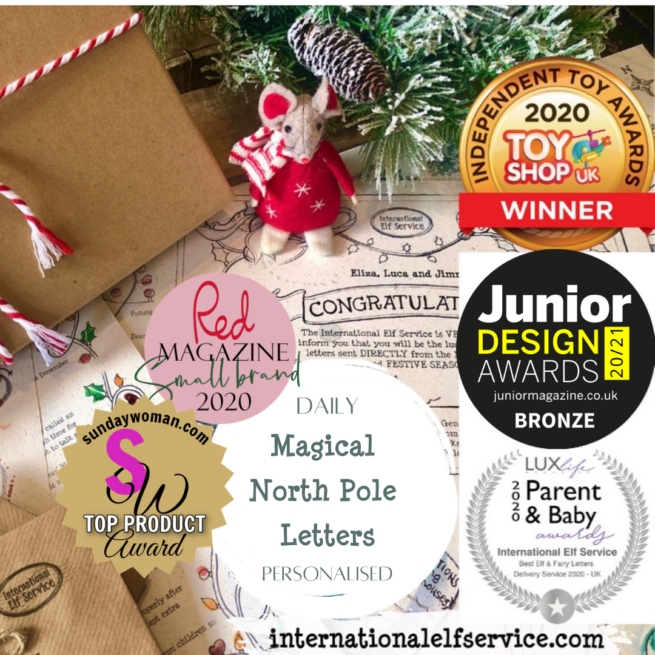 Multi-award winning International Elf Service Christmas Elf letter bundles of Advent letters from the north pole.