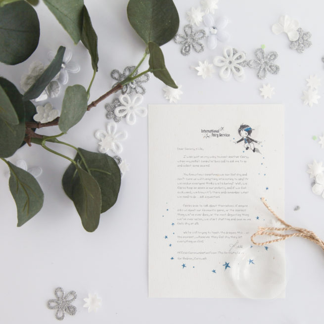 A personalised Fairy Letter from international Elf Service with a tip on what you can do if you're feeling shy around others..