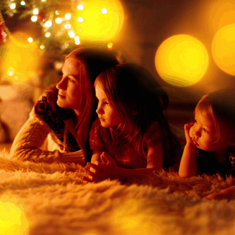 What children really love about Christmas includes playing board games together as a family