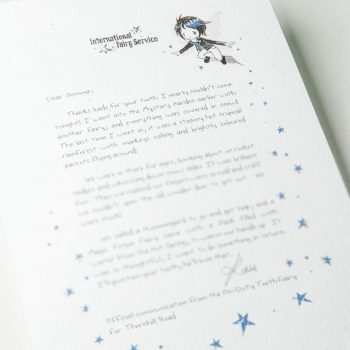 Personalised Tooth Fairy Letters, with parenting tips on kindness woven through from the International Elf Service. A perfect addition to that well loved childhood tradition where the Tooth Fairies leave a personalised Fairy letter for your child to discover.