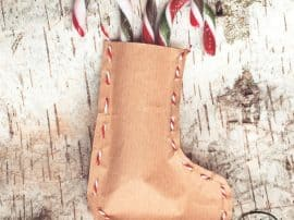 How To Make Brown Paper Christmas Stockings!