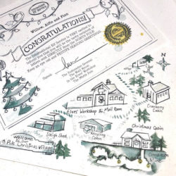 Certificate and map for children who will be receiving Elfie's Christmas Letters - an Advent Elf Letter Bundle for the countdown to Christmas from the International Elf Service