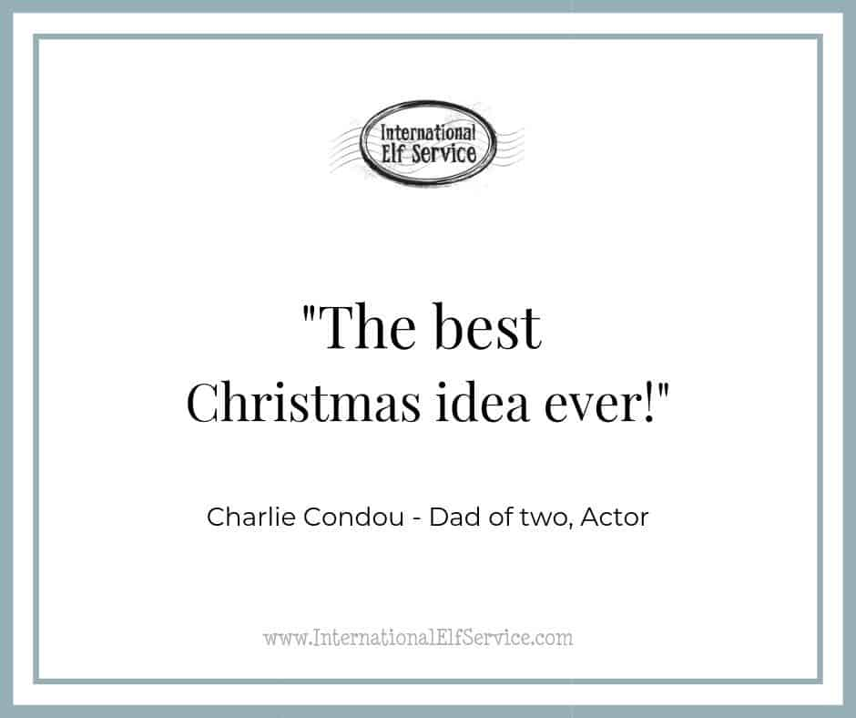 """Charlie Condou declares the Christmas Letter Bundles from the International Elf Service are 'The Best Idea Ever!"""""""