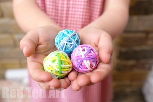 Any colour Mix 'Em Up Loom Band Bouncy Balls - perfect for stocking fillers or for them to make themselves!