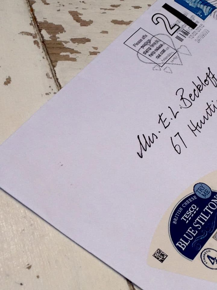 Write a quick letter to someone! - Even Tesco's Stilton features...