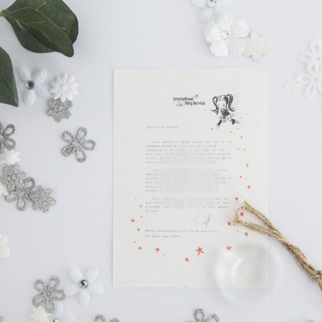 Talking Calmly When Cross: a personalised, magical Fairy letter from the International Elf Service. Designed to help support your child's emotional health and development.