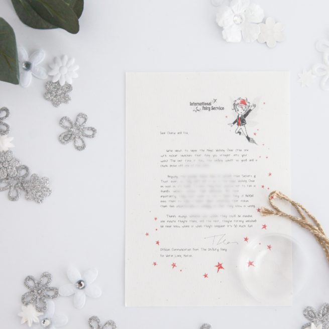 Learning about Trust & Secrets: a personalised, magical Fairy letter from the International Elf Service. Designed to help support your child's emotional health and development.