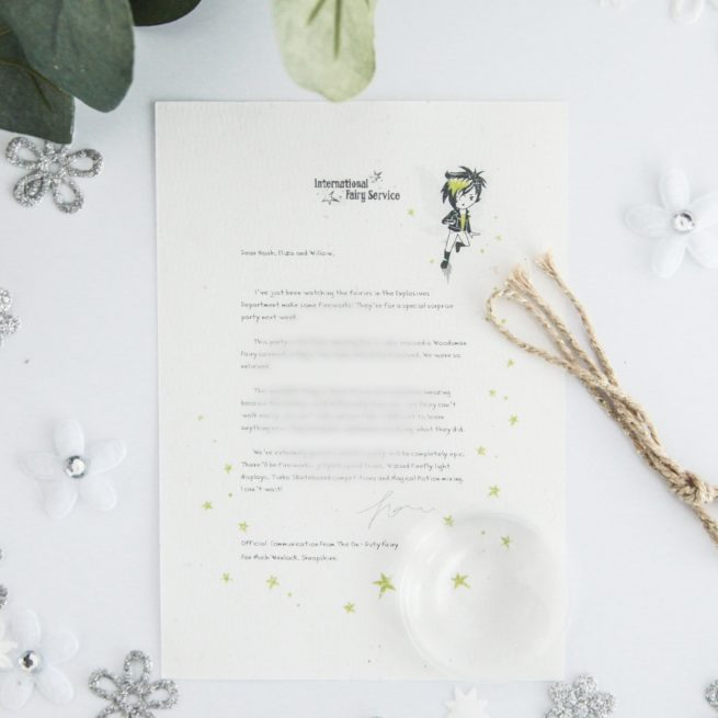 Fairies with Special Needs - Personalised Fairy Letter from the International Elf Service, on 100% recycled paper