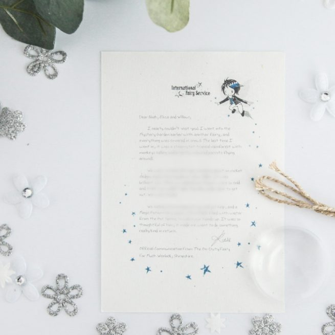 Kindness - Personalised Fairy Letter from the International Elf Service, on 100% recycled paper