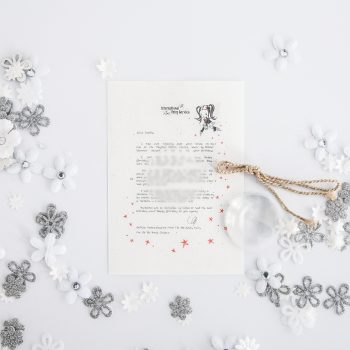 Birthday Rainbow Wish: Personalised FAIRY Letter No. 23 - magical letters on exquisite 100% recycled paper from the International Elf Service