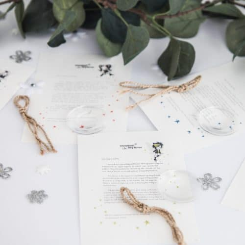 A bundle of five personalised, magical Fairy letters from the International Elf Service. Designed to help support your child's emotional health and development.