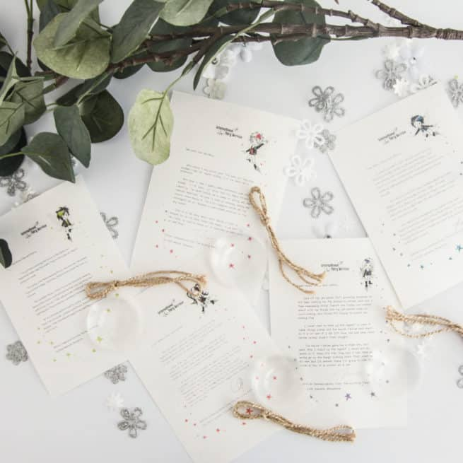 No. 02 bundle of five personalised, magical Fairy letters from the International Elf Service. Designed to help support your child's emotional health and development.